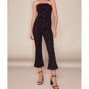 C/MEO Collective Floral Black Pants (Cropped)